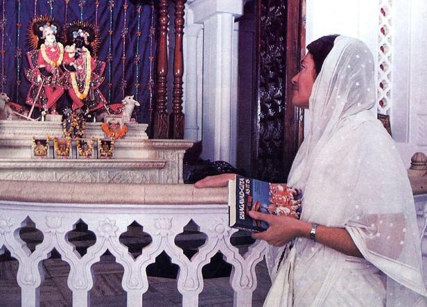 Gauri Devi Dasi At ISKCON Vrndavana