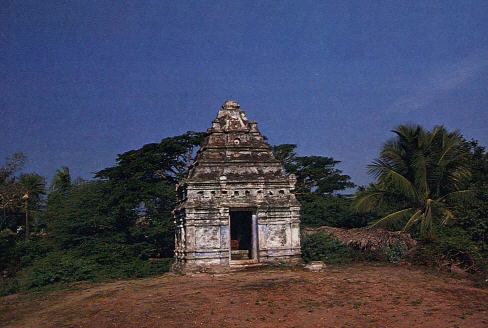A Small Shrine House The Footprints of Lord Caitanya
