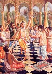 Prahlada With his Classmates