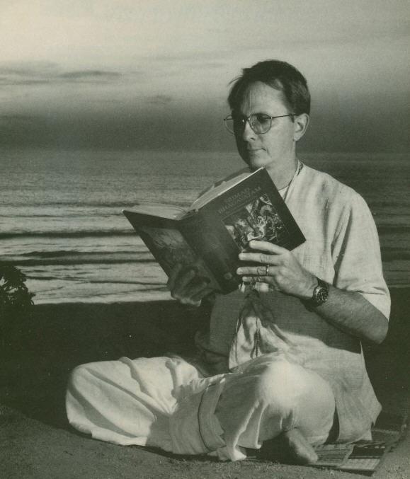 Devotee Reading The Srimad Bhagavatam