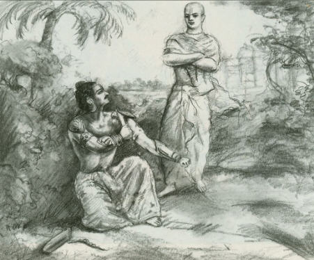 Lord Indra and Vasusena