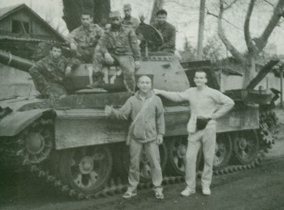 Murari Krsna Dasa with Soldiers