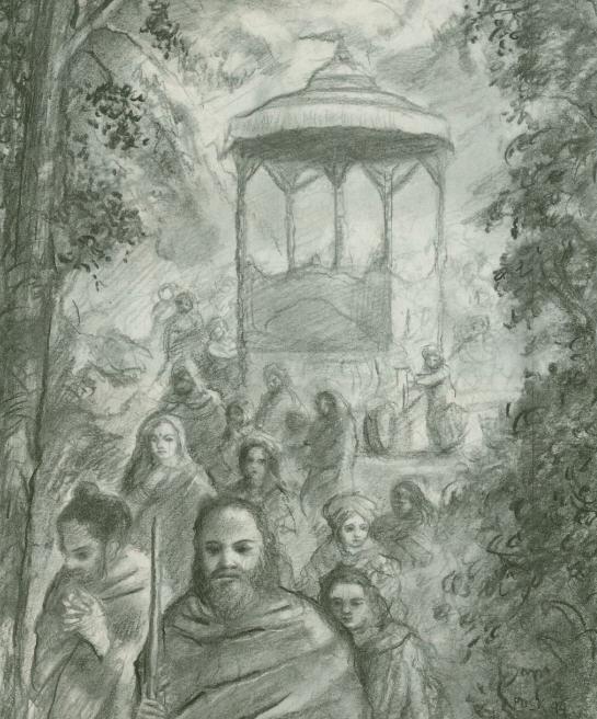 The Funeral of Pandu and Madri by Hridayananda Dasa Goswami