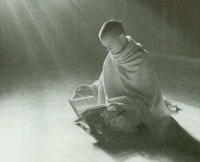 Devotee Reading The Srila Prabhupada Book