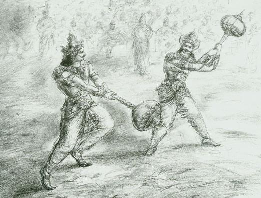 Duryodhana and Bhima
