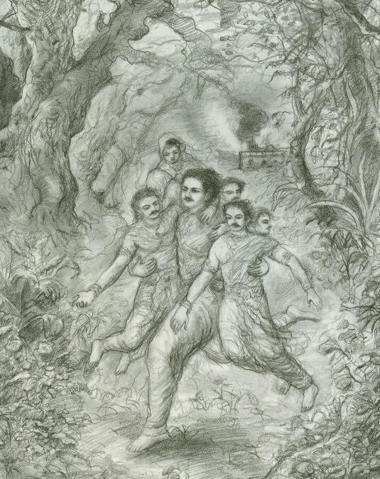 The Fire At Varanavata Translated from Sanskrit by Hridayananda Dasa Goswami