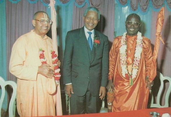 President Mandela Visits Durban Temple