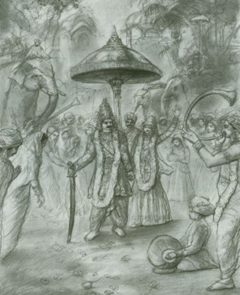 Draupadi Marries The Five Pandavas
