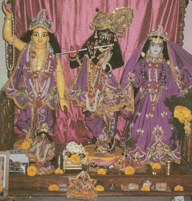 Deities of Radha Krsna and Sri Caitanya Mahaprabhu