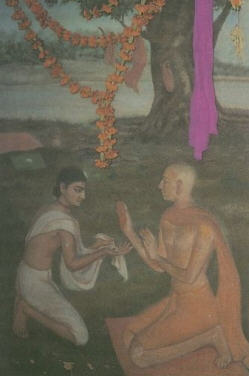 Govinda Ghosa Receiving Mercy of Sri Caitanya Mahaprabhu