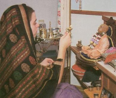 Krsna Worship Srila Prabhupada on the Ashram