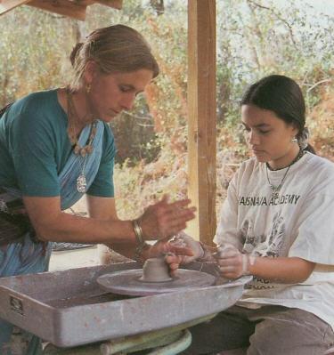 Saranagari Gets A Pottery lesson from Akuti Devi