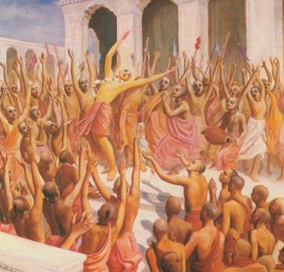 Lord Caitanya Chanting and Dancing