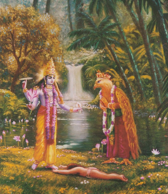 Dhruva Falls to ground in love of God