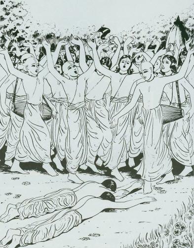 Rupa Gosvami And Brother Anupama Meet Lord Caitanya