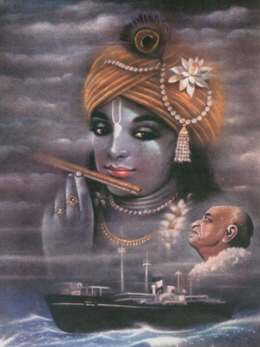 Srila Prabhupada With Krsna