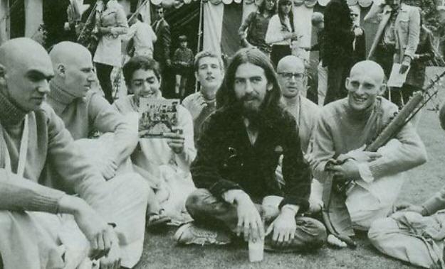 George Harison at Bhaktivedanta Manor early 1970