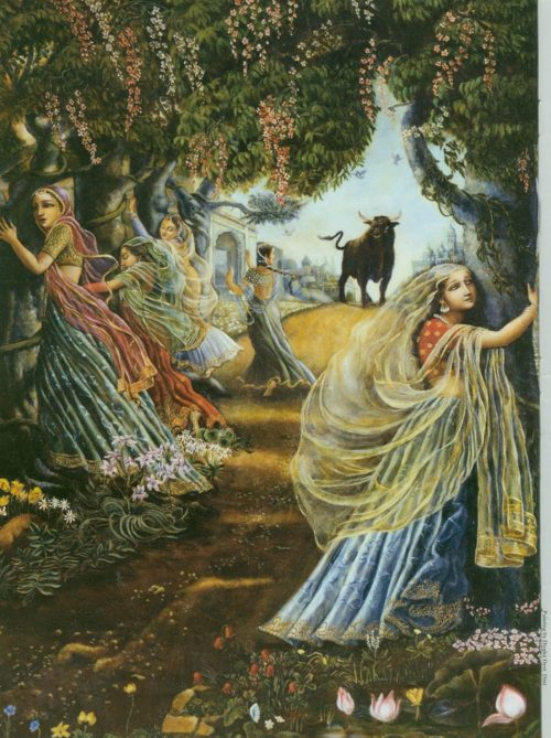 The Appearance of Radhakunda by Amala Bhakta Dasa