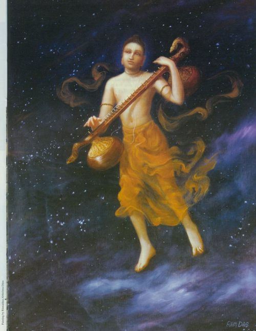 Narada Sees God Everywhere by Amala Bhakta Dasa