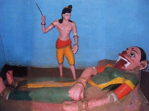 Laxman cutting the nose Surpanakha