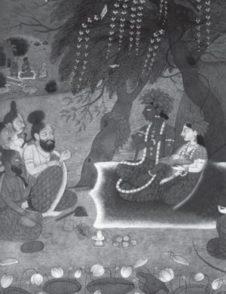 Sri Rama With Piligrims