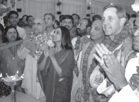 Rani Mukharjee and Other Guests Take Darshan of Their Lordship