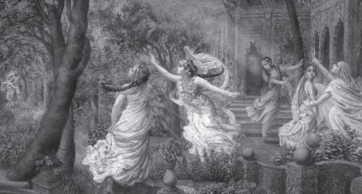 Gopis Enchanted by Krsna's Flute Give up all Social Convention