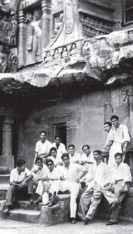 Damodara Dasa at ajanta caves in maharashtra