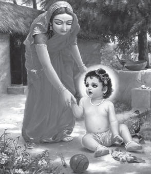 Saci mata and Lord Chaitanya