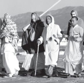 Sanyasis with Srila Prabhupada