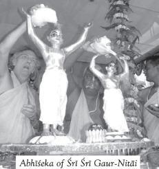 Abhishek of Sri Sri Gaura Nitai