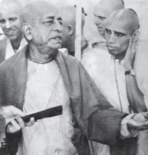 Prabhupada with Lokanatha Maharaja