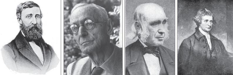 Henry David Thoreau, Hermann Hesse, Amos Bronson Alcott, Edmund Burke