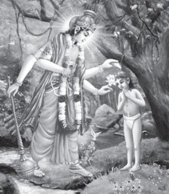 The Lord Appears Before Dhruva Maharaja