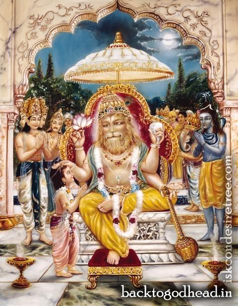 Lord Nrsimha Protector of Devotees by Aja Govinda Dasa