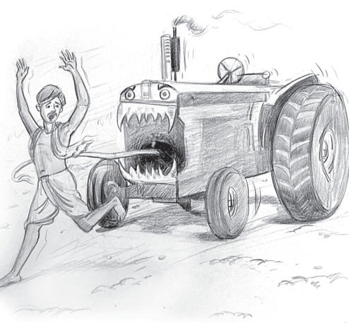 Tractor An Implement of Destruction by Chaya Devi Dasi