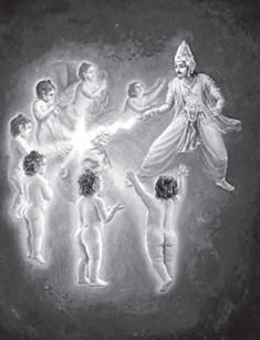 Indra cut Diti's 7 Embryo