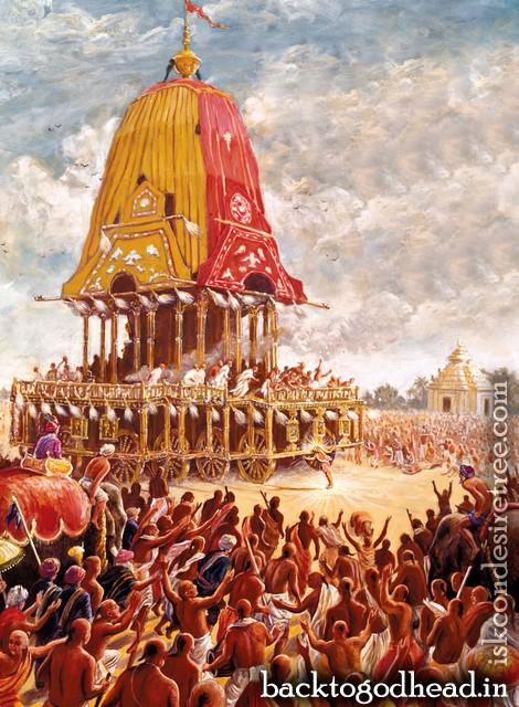 Lord Caitanya's Ecstasy at Rathayatra by Narada Rsi Dasa