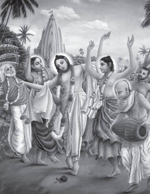 Lord Caitanya with Associatives