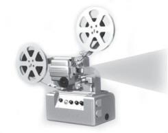 Motion Film on Projector