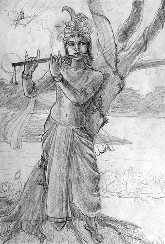 Krishna And Vishnu by Mukunda Mala Dasa