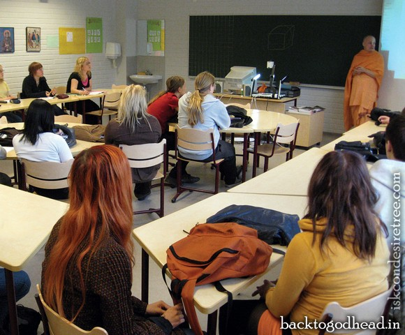 Vedic Wisdom Reaches Finland's Schools by Krishna Krpa Dasa