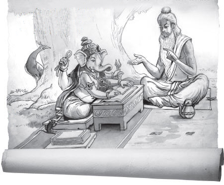 Ganesha agrees to Write by Nanda Dulal Dasa