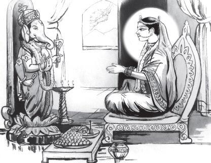When Sri Radha worshipped Ganesha