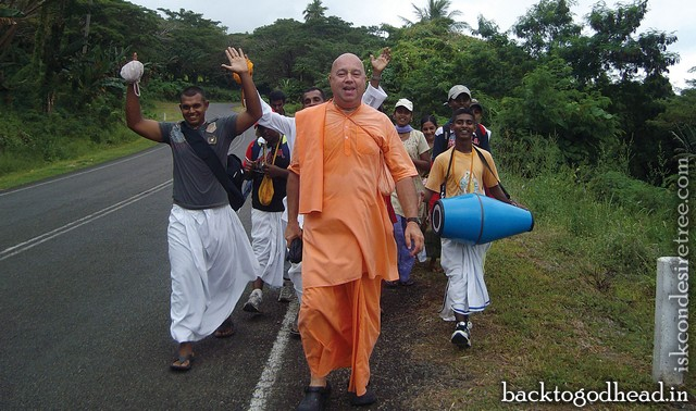 Walking Through Fiji for Krishna by Bhaktimarga Swami