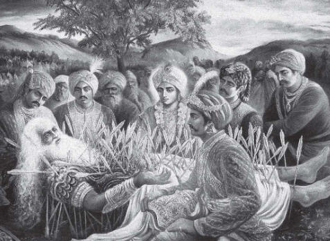 Bhisma Chose To Leave His Body in The Midst Of Krsna And The Pandavas