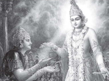 Lord Krsna Explains To Arjuna The Reason For His Descent