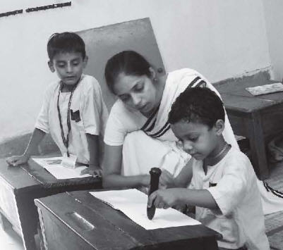 Teacher Teaching A Student on How To Use The Magic Pen