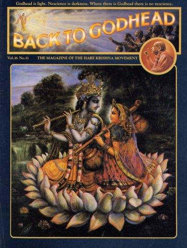 Back To Godhead Volume-16 Number-11, 1981