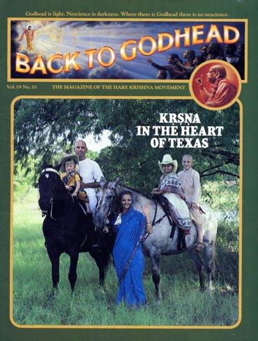 Back To Godhead Volume-19 Number-10, 1984